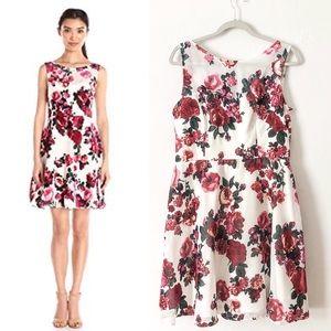 Betsey Johnson Velvet Burnout Floral Flare Dress